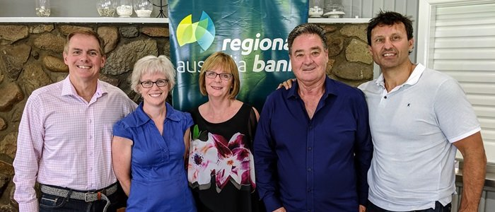 Regional Australia Bank Golf Day for Suicide Prevention Australia with guests Laurie Daley, Terry Kennedy, Julie Heraghty, Kevin Dupe and Katie McGill